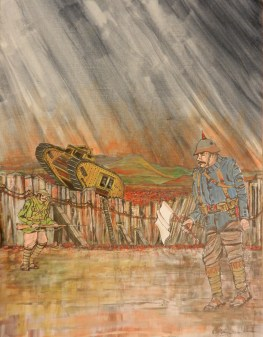 WW1. Acrylic. rememberance, war, painting