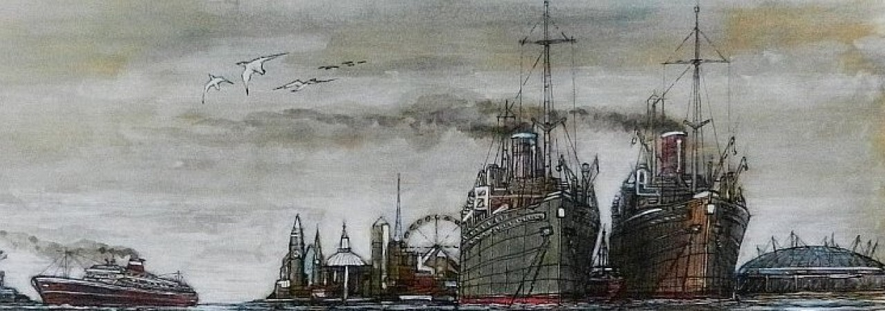 Steam ships, thames, london