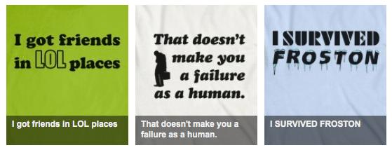 T-Shirt Designs on Skreened