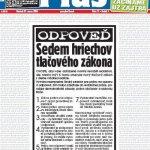 Titulní strana Plus jeden den 27. 3. 2008