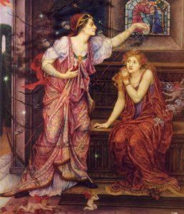 Magicznie przygotowywany napój miłosny dla młodziutkiej panny? Akurat nie w tym wypadku. To Eleonora Akwitańska przygotowująca truciznę dla kochanki swego męża, Rozamundy Clifford.