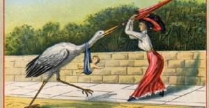 Zabawna pocztówka z epoki wiktoriańskiej
