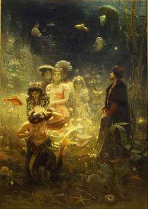 Dla wielu słowiańskich artystów inspiracją był ich własny folklor. Na ilustracji obraz Sadko w podwodnym królestwie Ilji Riepina