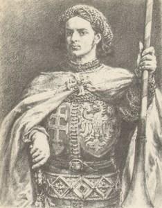 Na ilustracji młody władca według Jana Matejki
