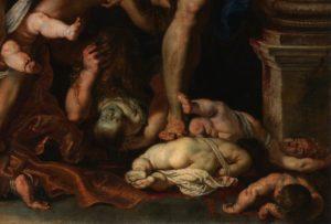 """Choroby i najbliżsi wybijali razem 36 procent nowonarodzonych. Peter Paul Rubens, """"Rzeź niewiniątek"""""""