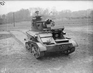 Lekki czołg Mk VI A z 3rd KOH.