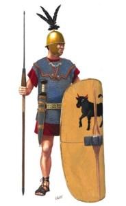 Legionista w uzbrojeniu z III w. p.n.e.