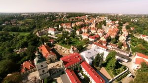 Sandomierskie Stare Miasto z lotu ptaka