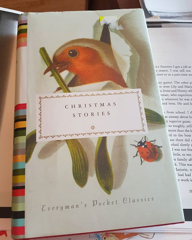 Christmas Stories: Everyman editions. Breaking this out starting tomorrow! Such a cute book. It just fits everywhere.