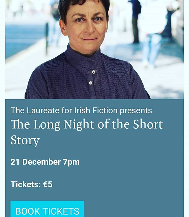 The long night of the short story curated by Ann Enright in @visualgallery_carlow this evening! So excited that a full evening will be dedicated to the genre of the short story and that the writers are rocking! Belinda Mckeon, Sally Rooney, Colin Walsh and Nicole Flattery.