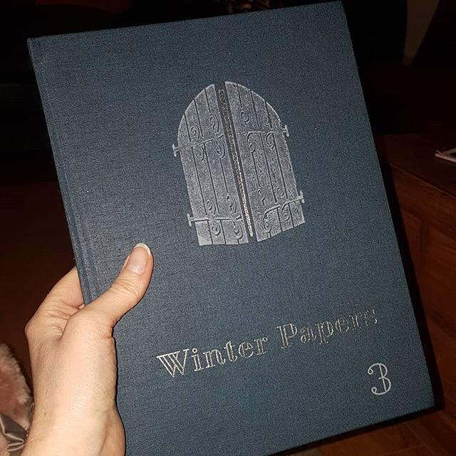 Winter Papers 3. Here is one of my Christmas book hauls. Winter Papers is edited by Kevin Barry and Olivia Smith. If you read my blog, you will know how much Kevin Barry's writing is much loved so I'm very excited to receive a copy of this beautiful annual. This year, it's a navy with gold lettering and mustard yellow sleeve. The paper is lovely. The font just rocks. The writing and photography is a real treat. It's expensive at €40 but it's meant to last for the whole winter season, you know.