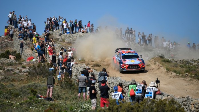 Dani Sordo of Spain won this year's Rally of Italy in Sardinia