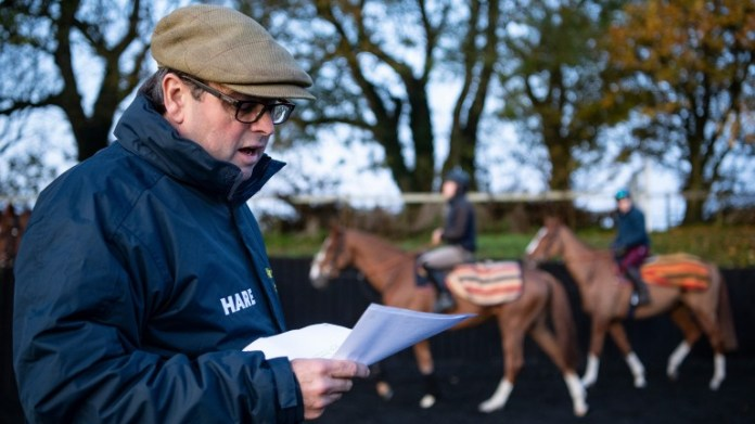 Alan King consulted with his staff and owners before deciding to scratch his two runners at Leicester on Tuesday