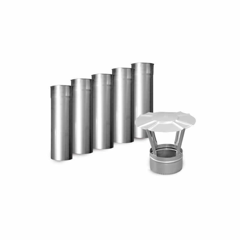 stainless steel stovepipe flue pipe exhaust pipe flue pipe 6 piece