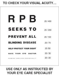 Close also test for visual acuity research to prevent blindness rh rpbusa