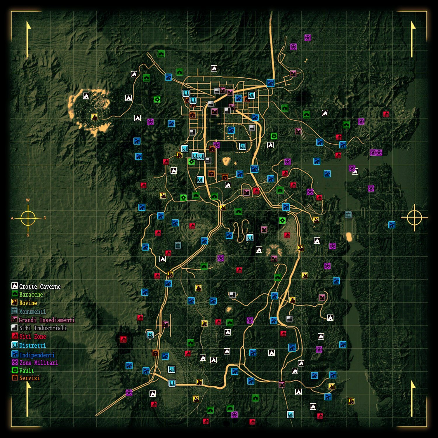 Fallout New Vegas Map Location Names