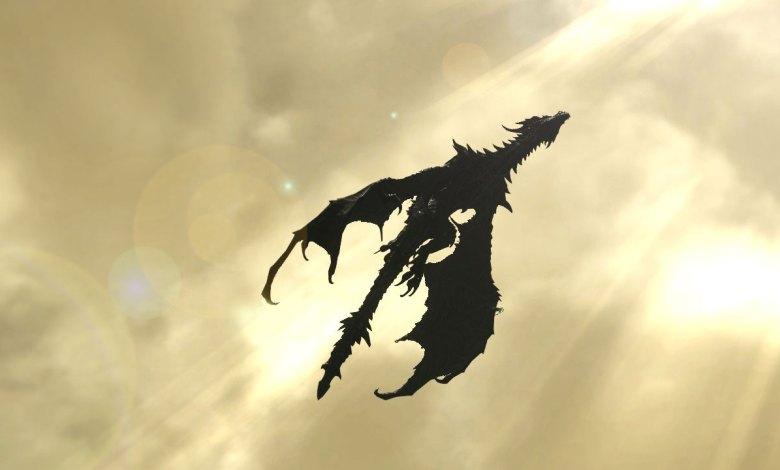 Imagem do podcast 7 da segunda fase de TESTE do RPG Next - Dragão voando conta o sol