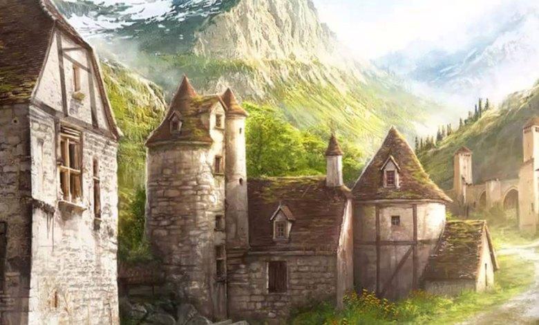 Dentro da vila medieval Phandalin - Imagem do Tarrasque na Bota 03 - A mina perdida de Phandelver - Episódio 3 - O desaparecimento do amigo anão