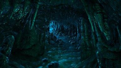 Entrada da Caverna dos Goblins - Imagem do Tarrasque na Bota 05 - A mina perdida de Phandelver - Episódio 5 - A caverna do Goblins