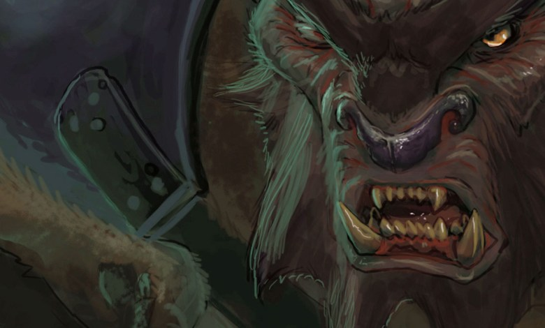 Bugbear intimidador - Imagem do Tarrasque na Bota 16 - A mina perdida de Phandelver - Episódio 16 - Logística de corpos