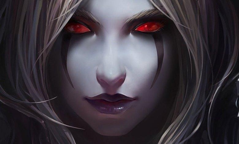 Elfa Negra representando a Morte Negra