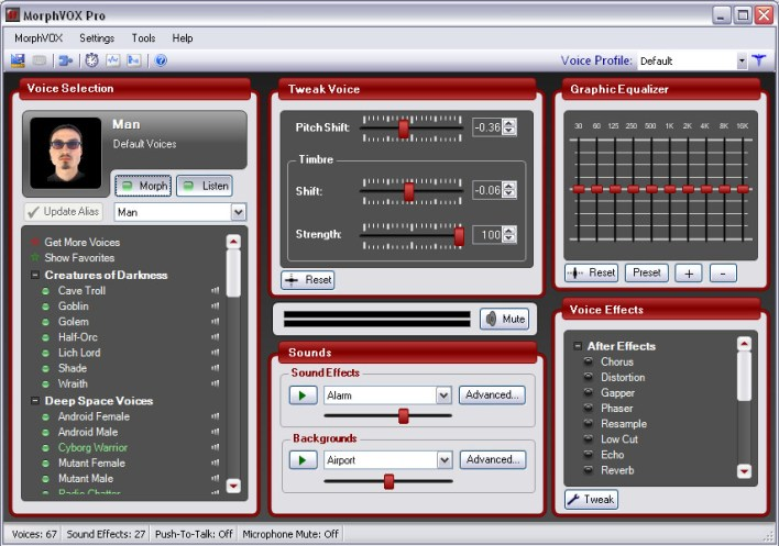 MorphVox Pro - Programa de modulação de voz