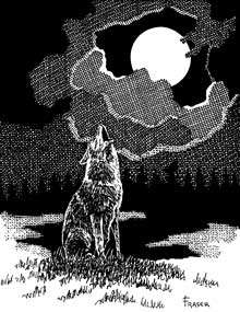 The Art of W Fraser Sandercombe: Howling Night