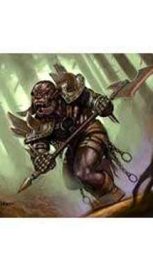 The Art of Eric Lofgren Orc on the Attack