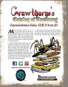 Crawthorne's Catalog of Creatures: Abroa for the Pathfinder RPG