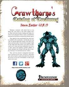 Crawthorne's Catalog of Creatures: Ioun Eater for the Pathfinder RPG