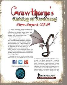 Crawthorne's Catalog of Creatures: Storm Serpents for the Pathfinder RPG