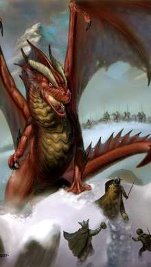The Art of Eric Lofgren Dragon Attack in the Snow