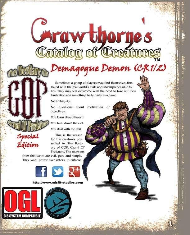 Crawthorne's Catalog of Creatures: Demagogue Demon for the Pathfinder RPG