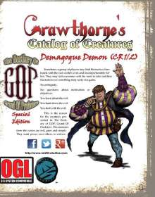 Crawthorne's Catalog of Creatures: Demagogue Demon for the Pathfinder RPG