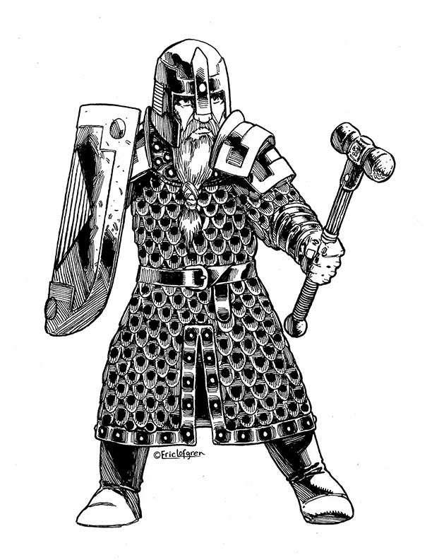 The Art of Eric Lofgren Dwarf Stalwart
