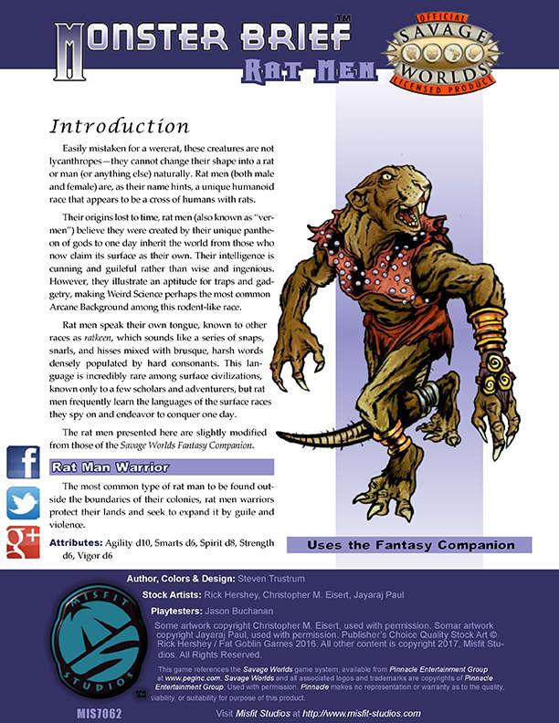 Monster Brief: Rat Men