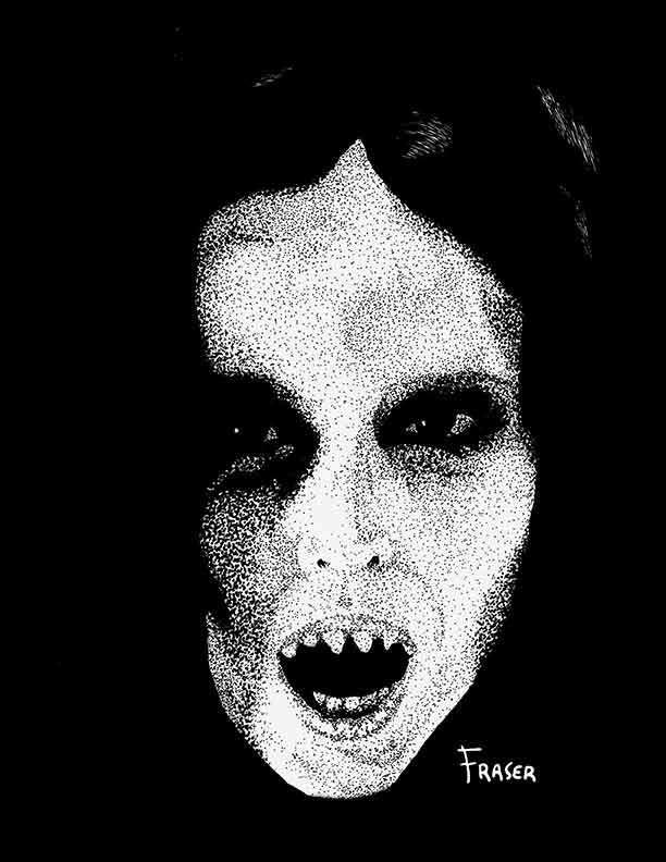 The Art of W Fraser Sandercombe: Lady Vampire
