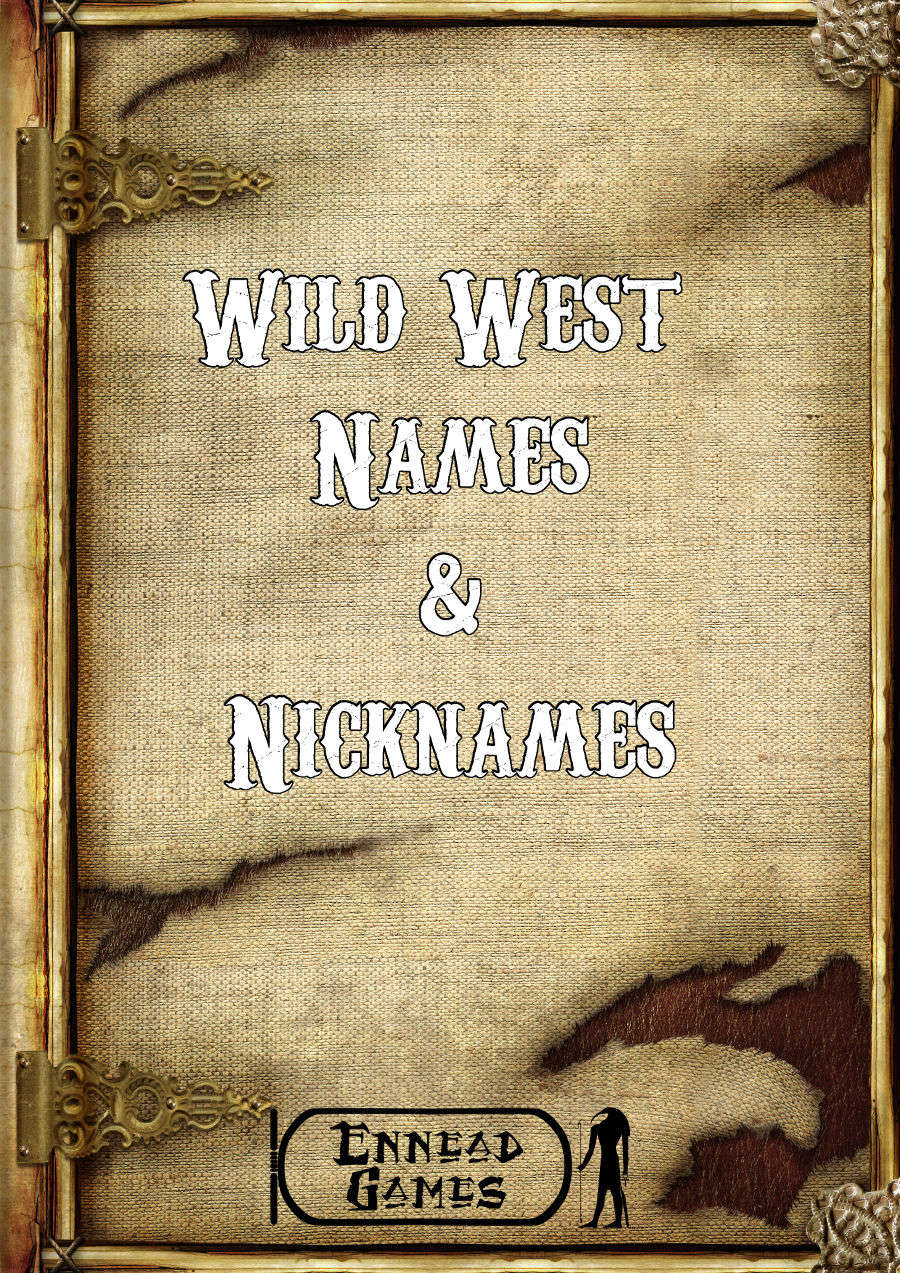 Wild West Names Amp Nicknames Ennead Games Generators