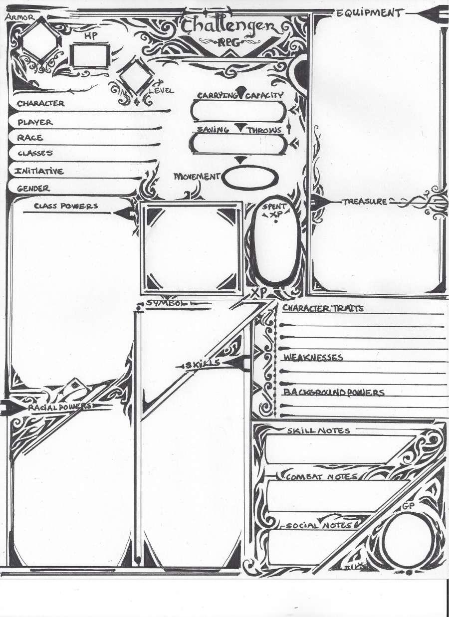 Challenger RPG Character Sheet v.3