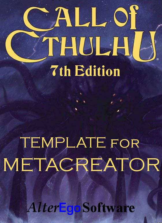 Call Of Cthulhu 7th Edition Template AlterEgo Software