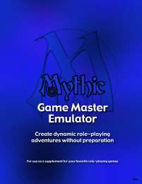 Mythic Game Master Emulator cover