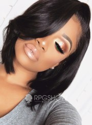 black bob human hair lace wigs