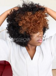 hairstylist two tone curly lace