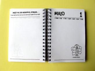 Página de início do mês e página do dia