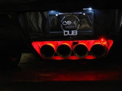 c7 corvette led bright exhaust filler panel lighting kit