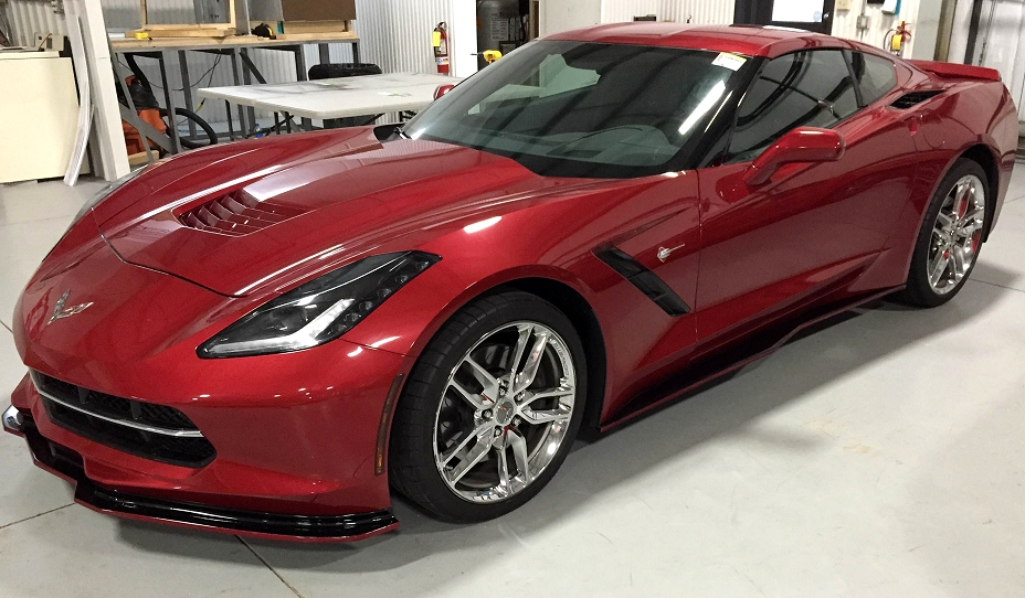 Stingray Torch Painted Corvette Wheels Red 2014