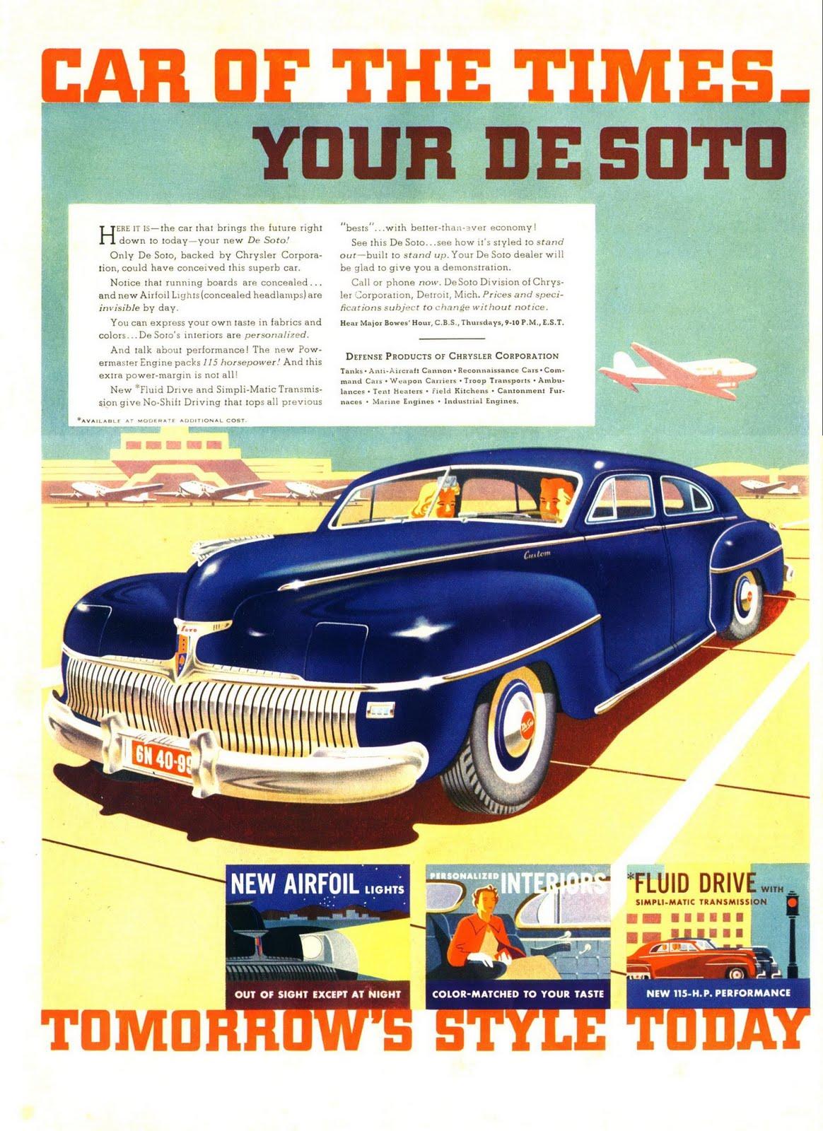 Desoto 1939 224 1961 Publicit 233 S Anciennes Vintage Ads