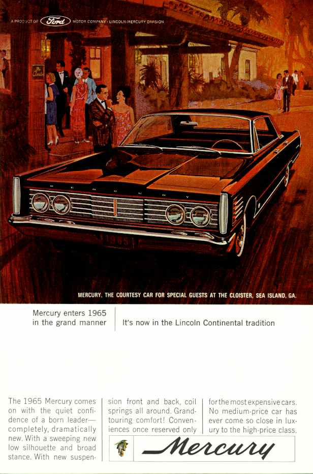 Mercury 1965  1988 Publicits Anciennes  Vintage Ads