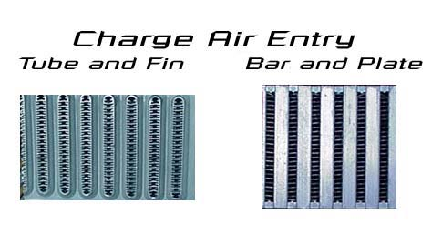 Image result for bar and plate vs tube and fin intercooler