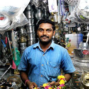 Un commerçant indien